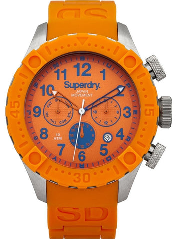 Superdry Scuba Deep Sea Day/Date Mens Orange Watch SYG142O - oribags2