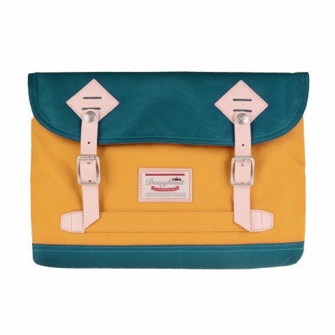 Doughnut Jungle 13'' Laptop Sleeve - Denim X Mustard - oribags2 - 1