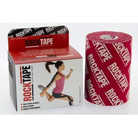 "RockTape Active-Recovery Series Tape (W10cm x L5m) 4"" Mini Big Daddy - Red Logo"