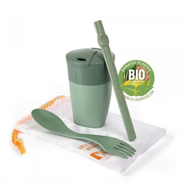 LightMyFire ReKit BIO Portable Snack & Drinks Kit 3pcs - Sandygreen - Oribags.com