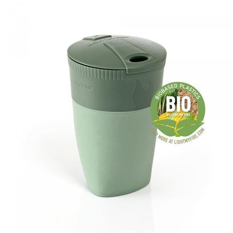 LightMyFire Pack-Up-Cup BIO Portable Collapsible Cup - Sandygreen