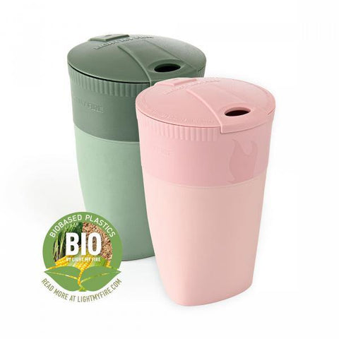 LightMyFire Pack-up-Cup BIO Portable Collapsible Cup 2-pack - Dustypink / Sandygreen