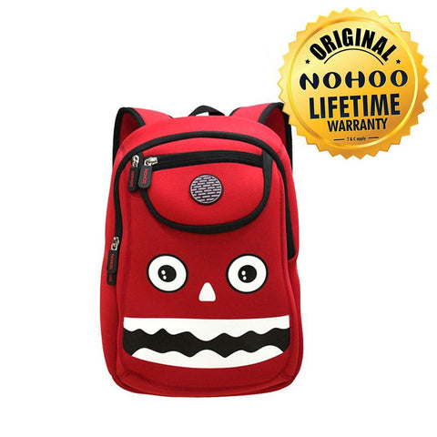 Nohoo Kids Backpack Monster Design - Red