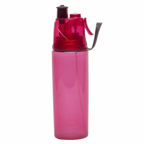 O2Cool Mist 'N Sip Hydration Bottle - 20oz. - Raspberry - oribags2 - 1