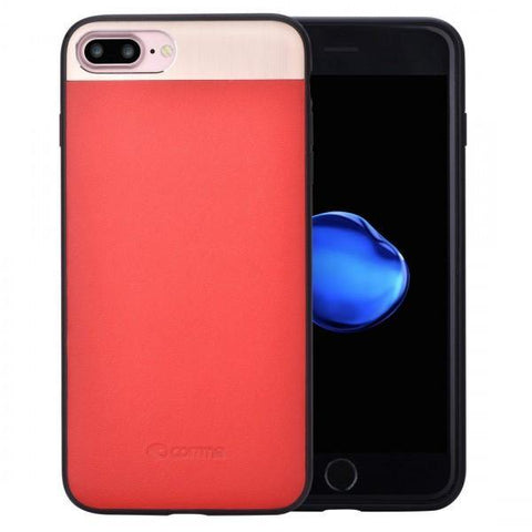 COMMA VIVID LEATHER CASE FOR IPHONE 7 PLUS - RED