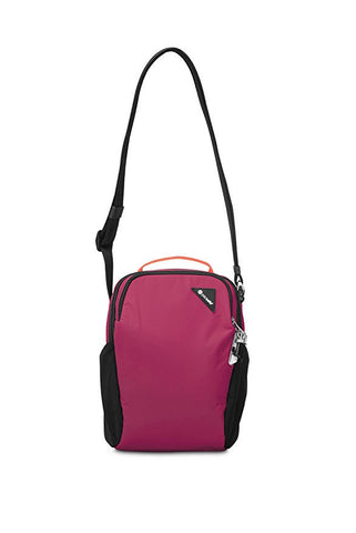 Pacsafe Vibe 200 Anti-Theft Compact Travel Shoulder Bag - Dark Berry - oribags2 - 1