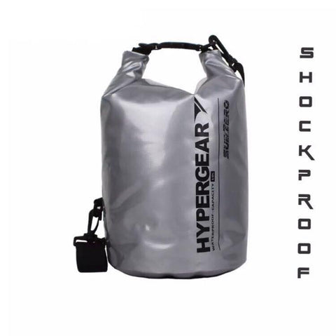 Hypergear Collapsible Cooler Dry Bag 10L Shockproof - Sub Zero Silver