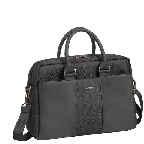 "Rivacase Narita Laptop Business Attache Briefcase 15.6"" - Black"