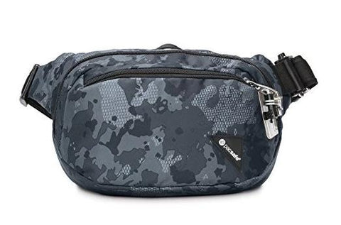 PacSafe Vibe 100 Anti-Theft Hip Waist Pack - Grey Camo - oribags2 - 1