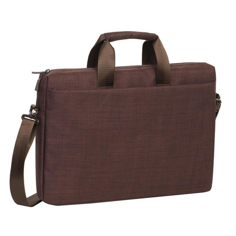 "Rivacase Biscayne Laptop Bag 15.6"" - Brown - Oribags.com"