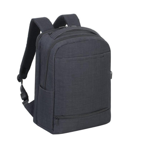 "Rivacase Biscayne Carry-On Laptop Backpack 17.3"" - Black"