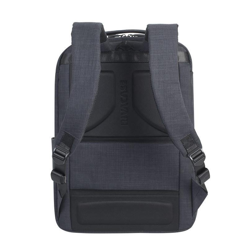 "Rivacase Biscayne Carry-On Laptop Backpack 17.3"" - Black - Oribags.com"
