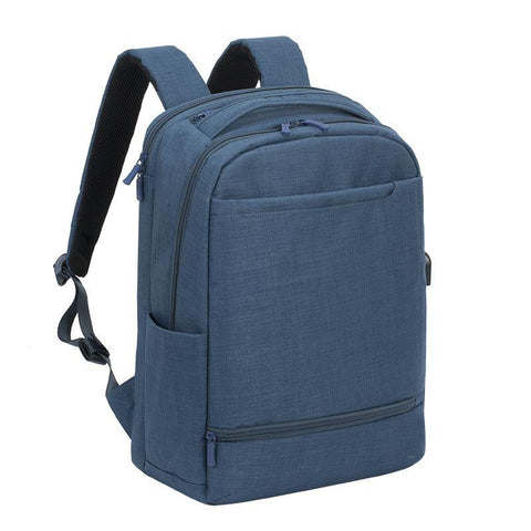 "Rivacase Biscayne Carry-On Laptop Backpack 17.3"" - Blue"
