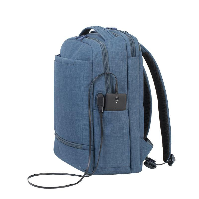 "Rivacase Biscayne Carry-On Laptop Backpack 17.3"" - Blue - Oribags.com"