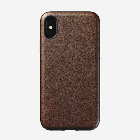 Nomad Rugged Case for iPhone X/XS - Rustic Brown