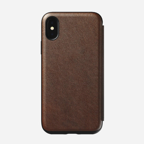 Nomad Rugged Folio for iPhone X/XS - Rustic Brown