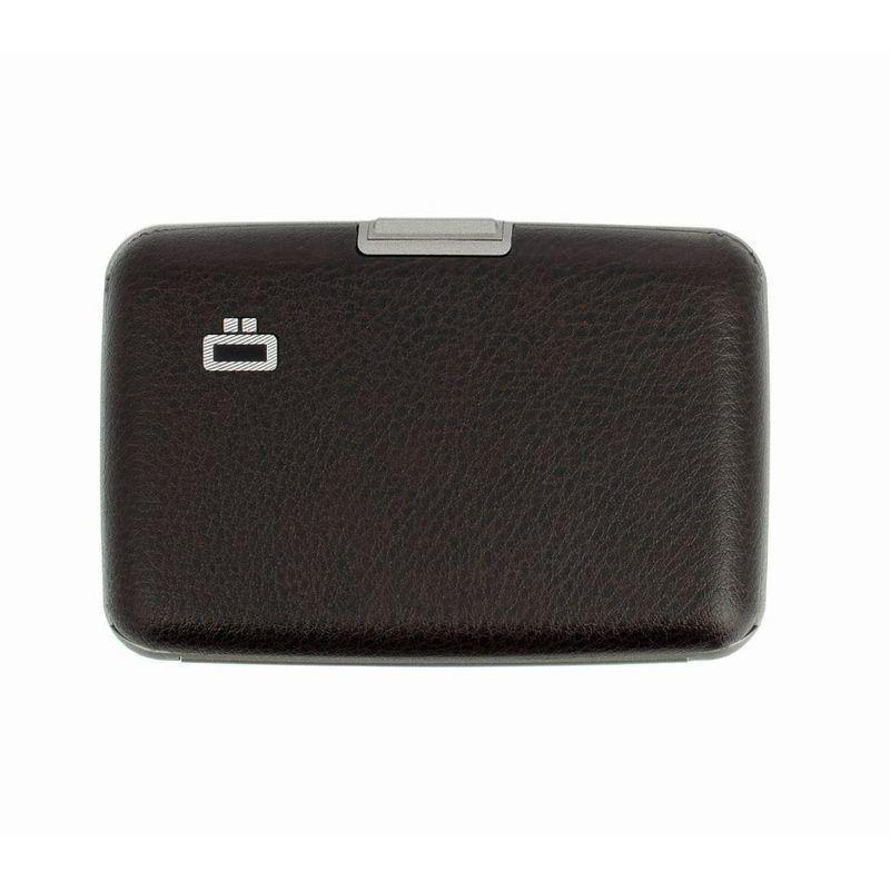 Ogon Stockholm Card Case RFID Safe - Simili Brown - Oribags.com