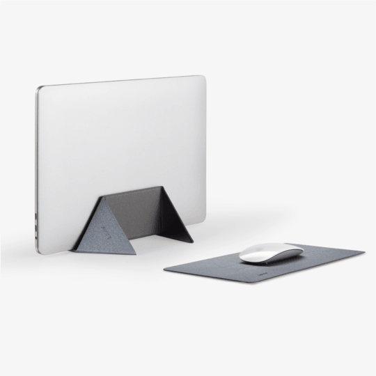 MOFT U 2-in-1 Vertical Laptop Stand & Mousepad - Grey (MS016-1-GY)