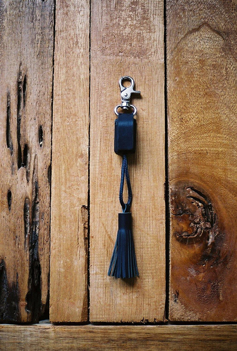 Native Union Power Link Tassel Charger with Lightning Connector - Marine Blue - Oribags.com