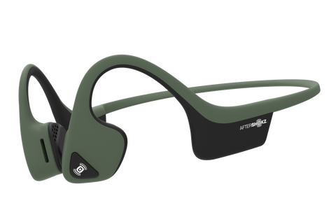 AfterShokz Trekz Air IP55 Sweat Resistance Wireless Bone Conduction Headphone - Forest Green