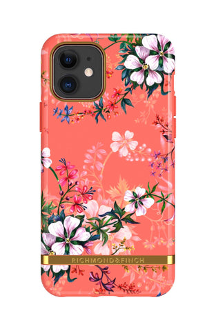 (Clearance) Richmond & Finch Coral Dreams IPhone 11 Case - Gold Details
