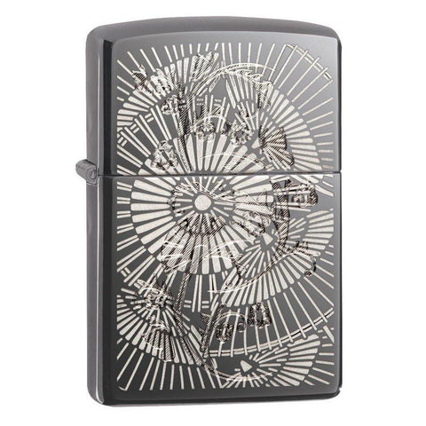 Zippo Asian Floral Windproof Lighter (29421)