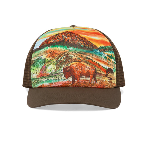 SUNDAY AFTERNOONS Artist Series Trucker Cap - Bison Sunset