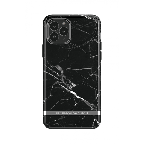 (Clearance) Richmond & Finch Black Marble IPhone 11 Pro Max Case - Silver Details