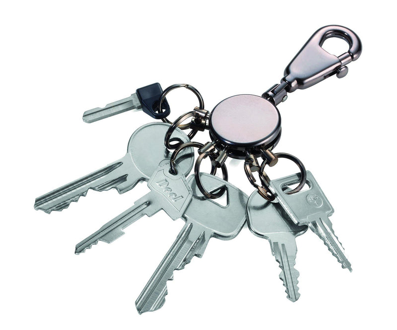 Troika Patent Valet Keyring in Black Chrome Finish - Oribags.com