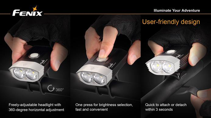 Fenix  BT30R Rechargeable Bike Light 1800 Lumens - Oribags.com