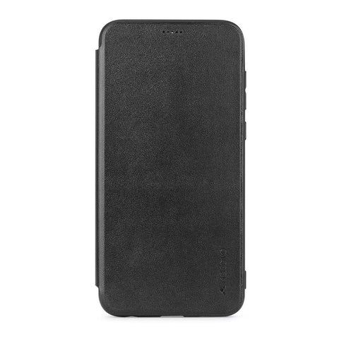 Meleovo Napa Flip Case for Vivo V7 Plus - Black