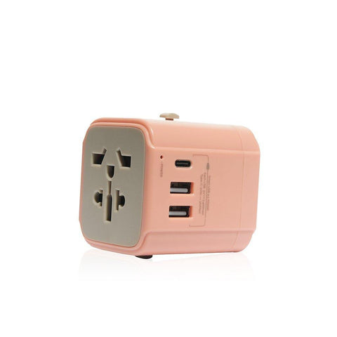 Monocozzi Bon Voyage | Travel Adaptor with 4.5A Dual USB and USB-C connector - Coral