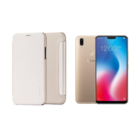 Meleovo Smart Jacket (Flip) for Vivo V9 - Brown
