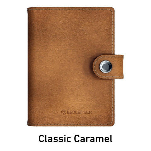 Ledlenser Lite Wallet RFID Protection (Paired with 150-lumen LED) - Classic Caramel