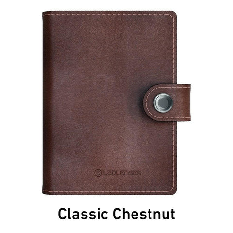 Ledlenser Lite Wallet RFID Protection (Paired with 150-lumen LED) - Classic Chestnut