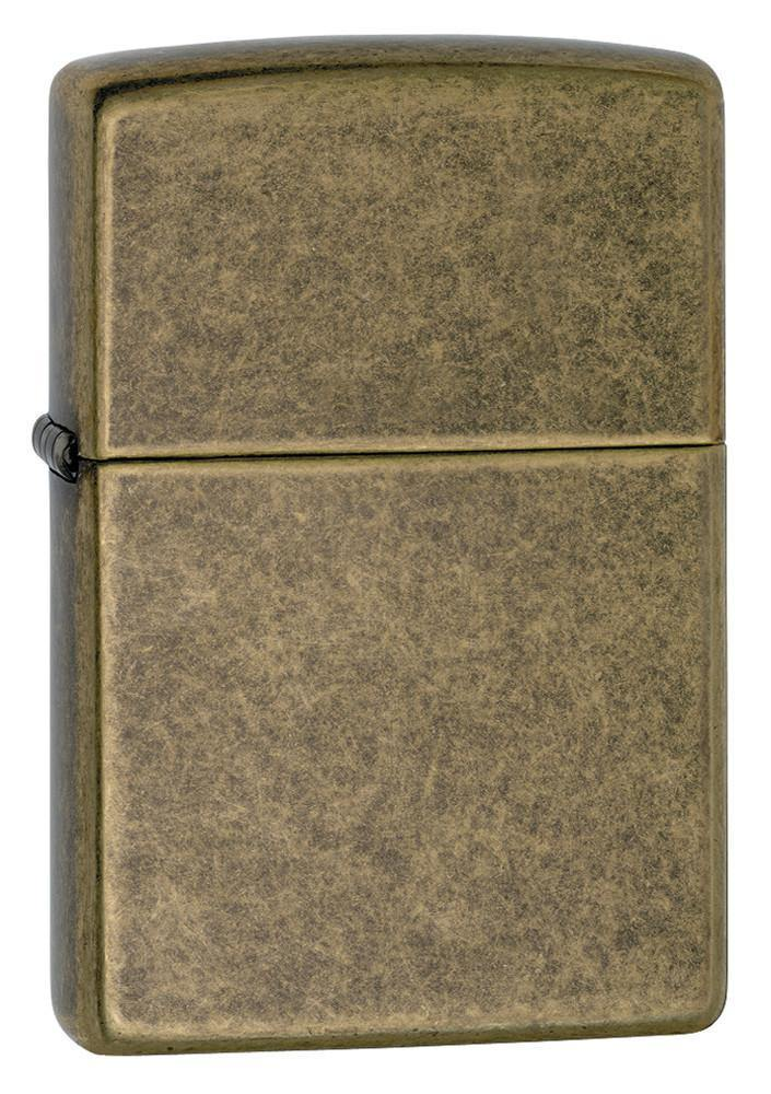 Zippo Classic Antique Brass Windproof Lighter (201FB) - Oribags.com