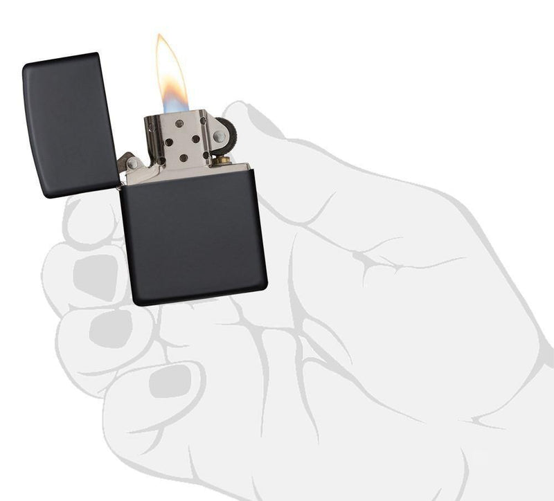 Zippo Classic Black Matte Windproof Lighter (218) - Oribags.com