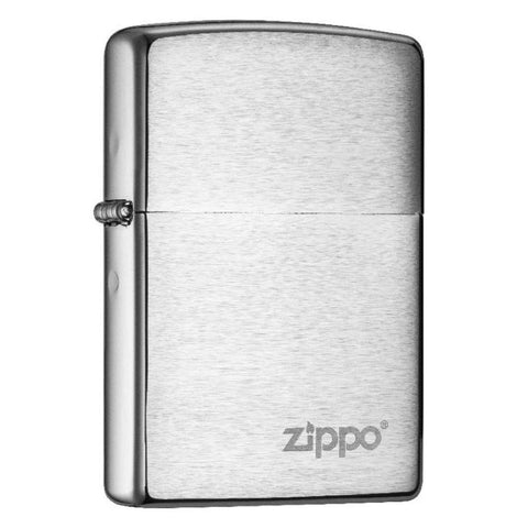 Zippo Classic Brushed Chrome with Zippo Logo Windproof Lighter (200ZL)