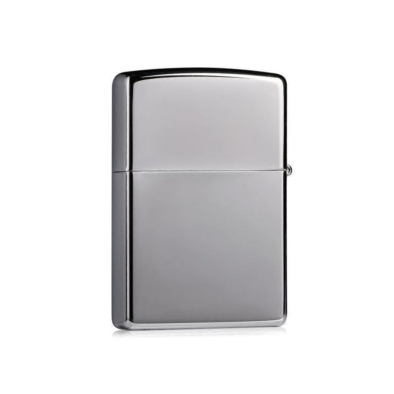 Zippo Classic High Polish Chrome with Zippo Logo Windproof Lighter (250ZL) - Oribags.com