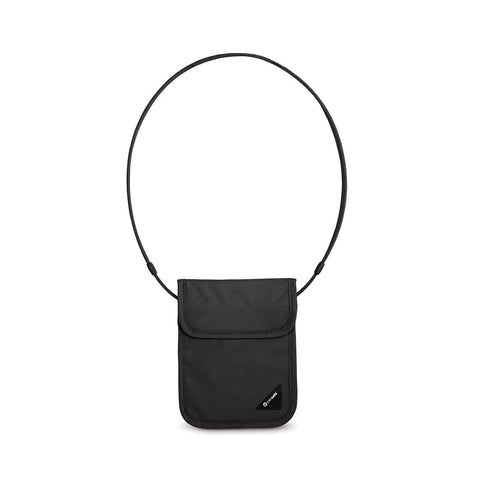 (Clearance) Pacsafe Coversafe X75 Anti-Theft RFID Blocking Neck Pouch - Black