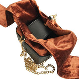 Livlola Cristy Bow Crossbody in Velvet Brown