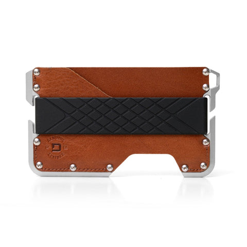 Dango Products D01 Dapper Wallet - Whiskey Brown/Satin Silver