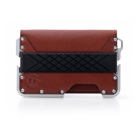 Dango Products D01 Dapper Bifold Wallet - Whiskey Brown / Satin Silver