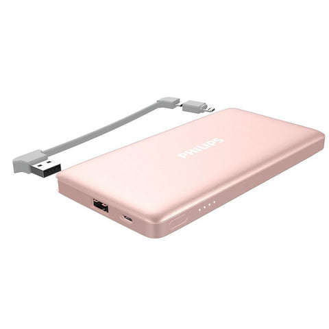 Philips Powerbank 10000mAh Detachable MFI Cable DLP6101 - Rose Gold