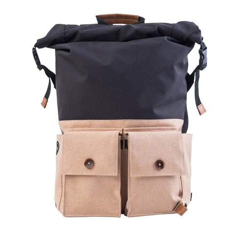 PKG DRI LB01 Rolltop Backpack - Black/Tan (EOL) - oribags2 - 1