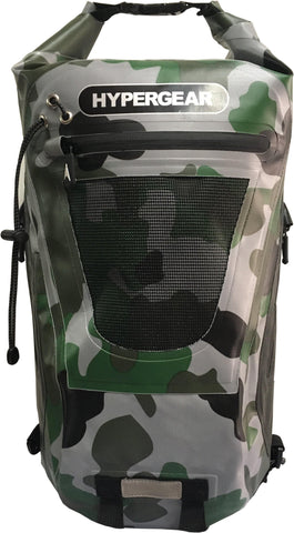 Hypergear Backpack Dry Pac Tough 20L - Camo Green Delta