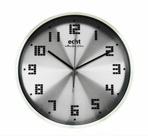 "ECHT 14"" Aluminium Dial Wall Clock with Digital Font - oribags2"
