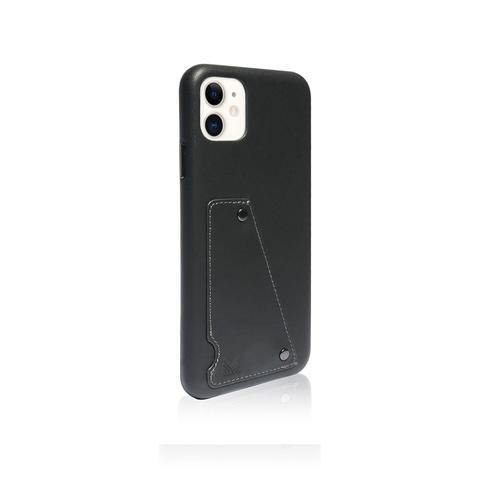 MONOCOZZI  Exquisite|Genuine Leather Shockproof back cover for iPhone 11 - Charcoal