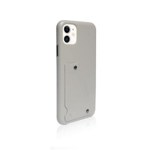 (Clearance) Monocozzi Exquisite|Genuine Leather Shockproof back cover for iPhone 11 - Light Grey