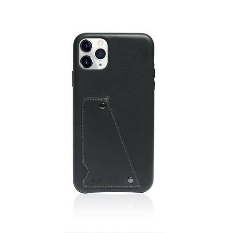 MONOCOZZI  Exquisite|Genuine Leather Shockproof back cover for iPhone 11 Pro - Charcoal
